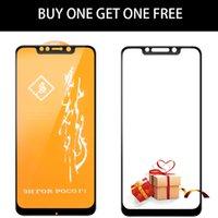 xiaomi bildschirmschutz großhandel-Xiaomi POCOPHONE F1-Glas vollvergüteter, vollständiger Schutz MOFi POCOPHONE F1-Displayschutzfolie für Frontfolienschutz aus POCO-Glas