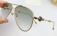 beinleuchten groihandel-Die neueste Mode-Designer-Sonnenbrille 6002 Pilotrahmenrahmen Nahtfarbe Beinschutz Lichtfarbe dekorative eyewear Top-Qualität