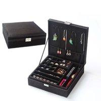 Wholesale jewellery packaging resale online - 2019 Casket For Decoration Velvet Wooden Jewellery Box Display Storage Organizer Big Capacity Packaging Earrings Organizer Boxes
