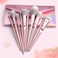Wholesale lip eye online - Makeup Brushes Set Powder Foundation Eye Shadow Eyebrow Eyelash Lip Make Up Brush Kits Cosmetic Brushes With Makeup Bag set RRA858