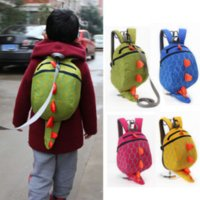 caudas de dinossauros venda por atacado-US Estoque Childs Child Safety Mochilas Menina Meninos Anti-lost Dinosaur Package Impedir Kids Lost School Dinosaur Bag Com cauda