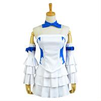 peri kuyruğu lucy kılık toptan satış-Peri Kuyruk Lucy Heartfilia Elbise Cosplay Kostüm Tam Set Takım