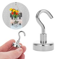 Wholesale super powerful magnets for sale - Group buy 1Pcs Strong Powerful Magnetic Hooks Power Hook Magnet Holder Super Heavy Neodymium Suction For Cup Key Refrigerator Gadget