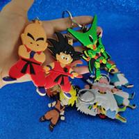 ingrosso sacchetto di plastica del giappone-Giappone Anime Dragon Ball Portachiavi di Plastica Dragon Ball Figura Portachiavi A Catena Chiave Sacchetto Appende Fahsion Gioielli Will e Sandy Regalo 340120