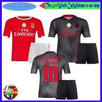 kits de fútbol juvenil rojo al por mayor-NUEVO 2019 2020 Benfica Kids Kit JONAS JOAO FELIX Camisetas de fútbol en rojo y gris Home Boy Niño Juvenil PIZZI SEFEROVIC SALVIO Camiseta de fútbol Traje
