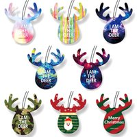 Wholesale rear view mirrors accessories resale online - Antlers Shape Car Perfume Papers Hanging Pendant Air Freshener Rear View Mirror Ornament Car Interior Auto Products Accessory
