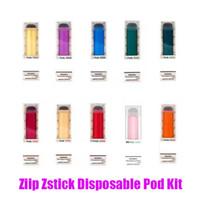 estilos de vape al por mayor-Dispositivo original zIIP laboratorios Zstick desechable Pod arranque kits de batería 280mAh 500 Puff 1,4 ml Cartucho Kit Vape Pen 10 Estilo 100% auténtico