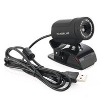 cmos pc toptan satış-A7220D HD USB Webcam CMOS Sensörü Web Bilgisayar Kamera Dahili Dijital Mikrofon Masaüstü PC Laptop için Video Arama için