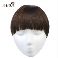 Wholesale clip on bangs for sale - Group buy Hair Piece Bangs Hairpiece Natural Synthetic Clip in Bang Hair Extensions Fake Flase Clip On Fringe B7