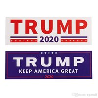 voitures amérique achat en gros de-NOUVEAUX 2 Styles Donald Trump 2020 Autocollants De Voiture Autocollant Mural Pare-Chocs Gardez-vous-en-un-grand-décalque