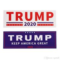 araç etiketleri çıkartmalar toptan satış-YENI 2 Stilleri Donald Trump 2020 Araba Çıkartmaları Tampon duvar Sticker Amerika Büyük Yapmak Tutmak Araba Styling Araç Paster ...