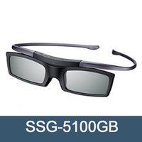 óculos 3d ativo samsung venda por atacado-Oficial 3D Original óculos SSG-5100GB 3D Bluetooth activa óculos óculos para todos Samsung série de TV grátis