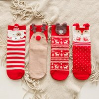 Wholesale cartoon christmas socks resale online - Cartoon Lady Christmas Sock Autumn And Winter Cotton Red Socks Women s Tube Socks Style LX8402