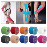 Wholesale kinesiology sports tape for sale - Group buy 10 Colors Kinesiology Kinesio Roll Cotton Elastic Adhesive Muscle Sports Tape Bandage Physio Strain Injury Support New cm x m M637F