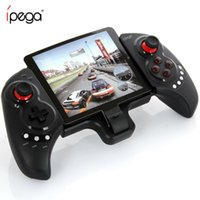 ipega android controller für pc großhandel-iPEGA PG-9023 Gamepad Android Joystick Für Telefon Drahtlose Bluetooth Teleskop Game Controller für pad Android ios Tv Tablet PC