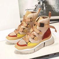 ingrosso nuovi formatori di signore-New Fashion Designer Donna Casual Scarpe in pelle scamosciata Platform Shoes Donne di marca Sneakers Winter Boots Ladies Luxury Trainer chaussure femme