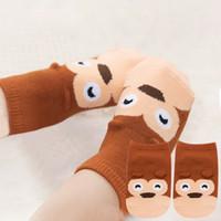 Wholesale small girl slip for sale - Group buy Small Infant Socks Little Ears Cotton Socks Kids Baby Cartoon Pattern Anti slip S M New Arrival toddler girl