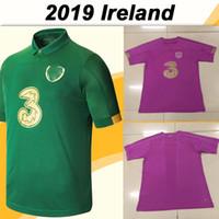 takımlar için futbol formaları toptan satış-2019 Avrupa Kupası COLLINS McGoldrick Erkek Futbol Formalar İrlanda Milli Takımı Ana Yeşil Çocuk Seti Futbol Gömlek Üniformalar