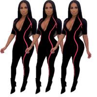 siyah kısa seksi tulum toptan satış-Yeni Gelmesi Siyah Tulum Kısa Kollu Seksi Kadınlar Için Tek Parça Bodycon Bandaj Tulum