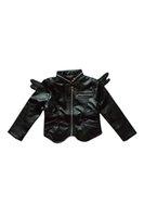pu jacken für kinder großhandel-Kinder Engelsflügel outwear Jacke für Herbst Kinder arbeiten Mantel PU-Jacke, Jungen, Mädchen Oberbekleidung Kleidung