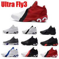 ingrosso scarpe nere di maggiordomo-2019 Jimmy Butler III Jumpman Ultra Fly 3 Griffin Butler Uomo Scarpe da basket Triple Nero Bianco Blu designer 3s Sneakers usa size7-12