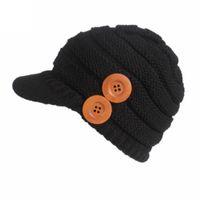 продажа вязаных беретов оптовых-Hat 2018 Горячие продажа женщины дамы зима вязание береты тюрбан Brim Hat Cap Pile Cap Master Designer челнок =487 г##