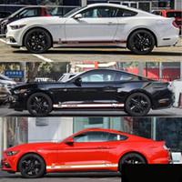 pegatinas largas de coche al por mayor-Cool Car Decoration Line Calcomanías de pegatina de cuerpo largo para Ford Mustang 2015 2016 2017 2018 2019 Styling