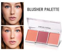 ingrosso mineralizzare il makeup blush-Commercio all'ingrosso 4 colori Trucco Blush Shimmer Matter Bronzer Viso Contour Mineralize Blush Palette Powder Highlighter Rouge Natural Peach Make Up