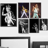 Wholesale rock band posters for sale - Group buy Poster Prints Freddie Mercury Queen Musician Rock Band Legendary Pop Star Painting Art Wall Pictures For Living Room Home Decor