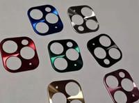 iphone kamera halka koruyucusu toptan satış-Lüks Kamera Güvenlik Çember Akıllı Telefon Metal Arka Kamera Lens Koruyucu Kılıf Kapak Halka Tampon iphone 11 pro 11 maks için