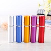 botellas de perfume de colores al por mayor-5 ml Mini atomizador de perfume recargable portátil 5 ml Botella de aerosol de aluminio Botellas de perfume vacías de alta calidad de colores