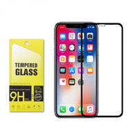 Wholesale FULL GLUE Carbon fiber soft edge D CURVED tempered glass screen protector for iPhone Pro MAX Plus X XR XS