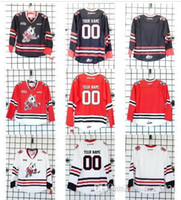 Wholesale Custom Men Youth women Vintage Customize Customize OHL Niagara IceDogs Hockey Jersey Size S XL or custom any name or number