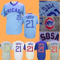 71a24dfe Sammy Sosa Jersey Home Away All Stitched Chicago Baseball Jerseys White  Pinstripe Blue Grey Cream size M-3XL
