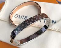 röhrenlehm armband großhandel-Marke Titan Stahl Roségold Armbänder Gold Armband Louis Armreif für Frau Schmuck Designer Armband Frauen