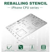 ic löten großhandel-6 PCS IC Chip Universal-BGA Reballing Stencil Kit eingestellt Solder-Schablone für XR XS MAX 8P 7 7P 6S 6P 5S 5C 5 Motherboard
