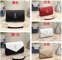 Wholesale cosmetic bags for girls resale online - New Travel Toiletry Pouch XXL YSL Protection Makeup Clutch Women Genuine Leather Waterproof Cosmetic Bags For Women