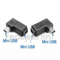 Wholesale right angle usb cable adapter for sale - Group buy 90 degree aux cable male to female degree adapter Left and right angle Mini USB pin Extended adapter