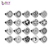 Wholesale essntial oil for sale - Group buy Crystal L stainelss steel Car Aromatherapy Locket Magnetic Essntial oil Diffuser Locket AH141