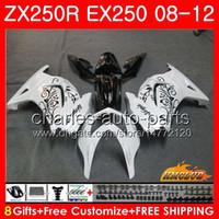 Wholesale kawasaki ninja for sale - Body For KAWASAKI NINJA EX ZX R ZX250 R EX white black Kit HC EX250 ZX250R Fairing