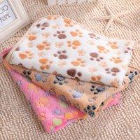 tiro de la pata del gato al por mayor-Impresión de la pata mascota manta del perrito manta del sueño del animal doméstico estera almohadilla suave y cálido perro de felpa del gato del sueño dormir mantas LX7033