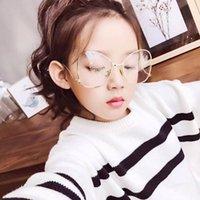 óculos de borboleta claros venda por atacado-2018 novo e elegante da borboleta óculos de sol para crianças Rosa Moda Espelho Sun Óculos Limpar Optics Metal Frame Bola UV400 Aço
