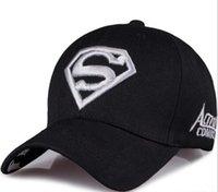 gorra de sol de superman al por mayor-Sombrero masculino primavera y verano gorras de béisbol al aire libre moda salvaje superman protector solar lengua pato sol hat003