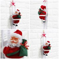 elétrico c venda por atacado-Eléctrico de Natal Papai Noel decorações brinquedos elétricos de Papai Noel crianças brinquedos Papai Noel que escala escadas T3I5405
