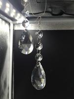 araña de sol al por mayor-10 unids / lote cristal rejilla prisma colgantes de vidrio para araña de cristal iluminación lustre cristal piezas 14mm colector solar