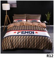 edredones edredones al por mayor-Queen Bed Edredones Conjuntos de ropa de cama de diseñador Funda de edredón Traje de 4 piezas Modelos de explosión Cristal grueso JM01 Impresión digital Cama 2.0M12