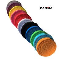 raquetas de badminton grátis venda por atacado-ZARSIA 1 Reel 10 M toalha de aderência de cola, algodão badminton tênis overgrips, overgrips raquete de badminton Frete grátis