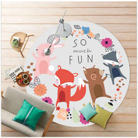 Wholesale carpet for babies resale online - 80cm cm cm Soft Round Cartoon Carpets for Living Room Computer Chair Mat Rugs and Carpets Baby Kids Room Small Rug Mat