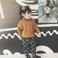 Wholesale years boys red white clothes online - LJWWMTZ Girls sweater twist Joker sweater autumn and winter clothing new children s clothing years old DML29017