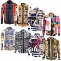 zebra druck mode großhandel-2019 marke hemd männer zebra-druck luxus beiläufige dünne mode dress shirt langarm herrenhemd baumwolle mode m-xxl